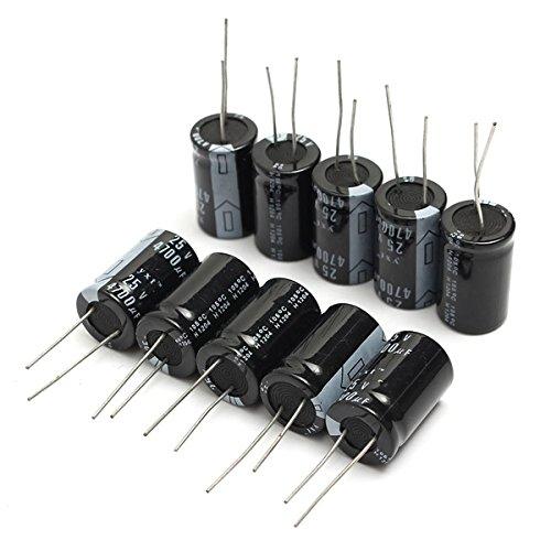 10Pcs 4700uF 25V 105C Electrolytic Capacitor 16x25mm BephaMart BM00001