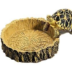 Zeroyoyo Vintage Reptile Supplies Tortoise Amphibians Gecko Snakes Lizard Resin Water Dish Food Bowl Toy