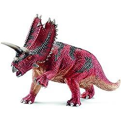 Schleich Réplica de Figura de Dinosaurio Pentaceratops, color rojo con gris