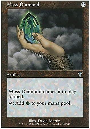 Moss Diamond ~ Foil ~ 7th Edition ~ NM ~ MTG ~ Magic