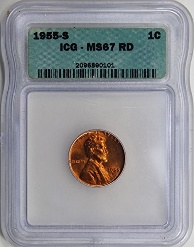 (1955 S Lincoln Memorial Cent MS-67 ICG RD)