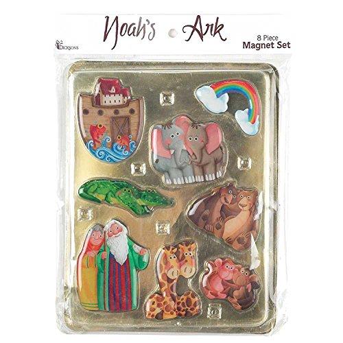 Noah's Ark Children's 8 Piece Bible Story Epoxy Magnet Set (Epoxy Magnet Set)