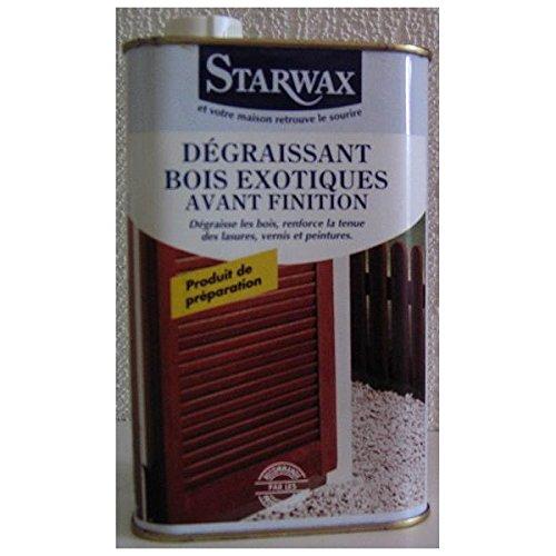 Dé graissant bois exotiques STARWAX - Contenance 1 litre