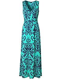 Zattcas Womens V Neck Sleeveless Maxi Dress Casual Empire...