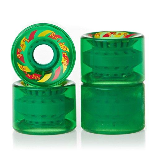 Lush Acid Drops 80A Longboard Wheels, Green - 62mm