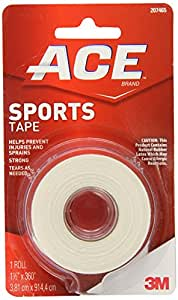 ACE Sports Tape, 1.5 Inches X 10 Yard, America's Most Trusted Brand of Elastic Bandages, Money Back Satisfaction Guarantee