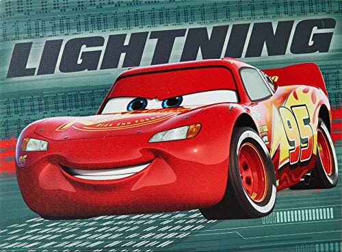Disney NK320640 Cars Led Canvas Wall Art, Red ()