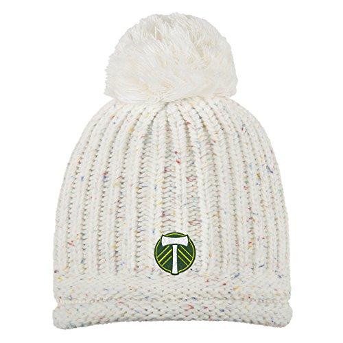 adidas MLS Portland Timbers Adult Women Fashion Yarn Cuffless Knit, One Size, Beige