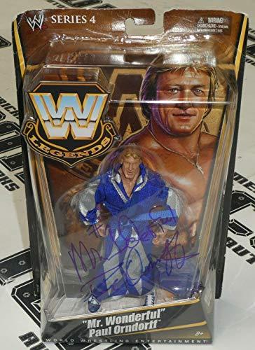 (Paul Orndorff Signed Mattel WWE Legends Action Figure COA Star Autograph - PSA/DNA Certified - Autographed Wrestling Cards)