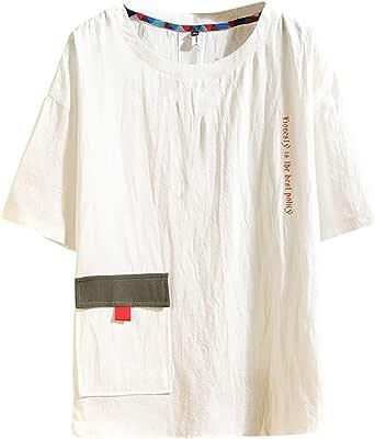 Berimaterry Camiseta para Hombre, Verano Algodón y Lino ...