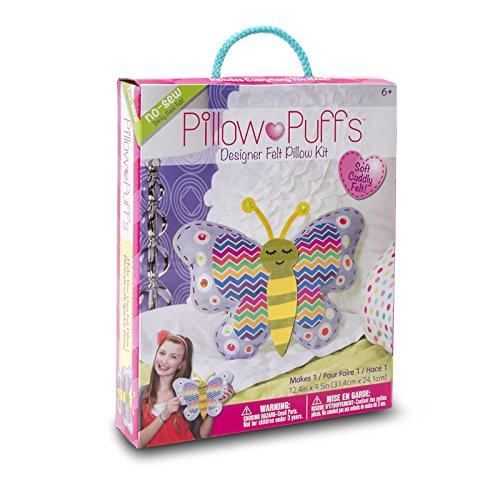 Darice PUF 118 Pillow Butterfly Design