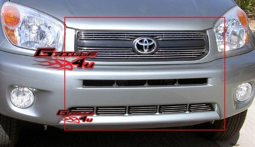APS Compatible with 2004-2005 Toyota RAV4 Billet Grille Combo T67975A