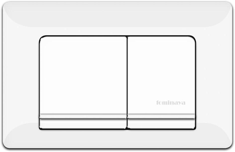 Fominaya 0111160004 Pulsador, PVC, color blanco, Negro, Estandar