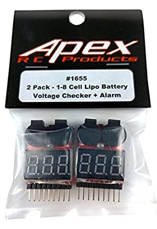 Amazon com: Apex RC Products 2 Pack Lipo Battery Voltage Checker