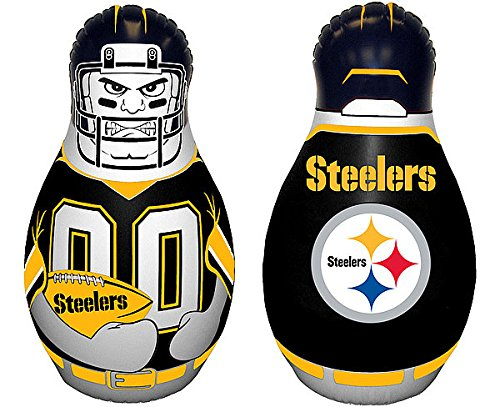 Nfl Buddies (Pittsburgh Steelers Tackle Buddy Punching Bag - New - Licensed NFL Football Merchandise)