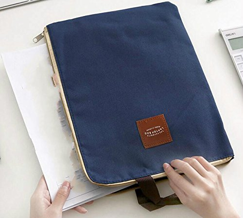 BNASA A4 Tasche tragbar Notebook-Tasche Handtasche Oxford Leinwand briefcase-dark blau