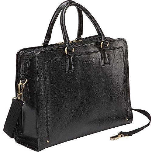 70b087ebbc8af Amazon.com  Banuce Full Grains Leather Briefcase Women Messenger Satchel  Bag 14 Laptop Black  Computers   Accessories