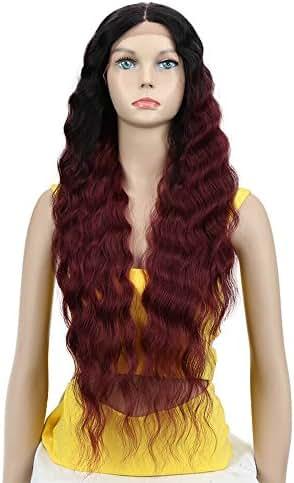 Joedir Lace Front Wigs 30'' Long Wavy Synthetic Wigs For Black Women 130% Density Wigs(TT1B/530)