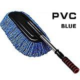 BONV Vehicle Wash Brush Car Microfiber Brush Detachable Folding Washing Duster Car Wax Brush Dedusting Wax Mop Nano-cotton Mop
