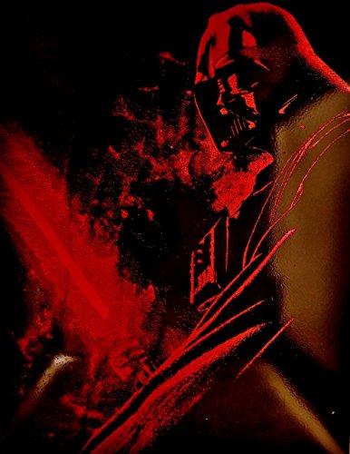 Darth Vader Lightsaber Metal Painting Poster Star Wars Spray Paint - Spray Paint Stencil Art