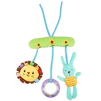 Infant Baby Handbells Rattles Baby Plush Animals Crib Stroller Hanging Toys Gift