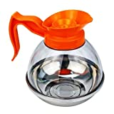 Foodservice Essentials CD-64PO 64-Ounce Decaf Coffee Decanter, Orange