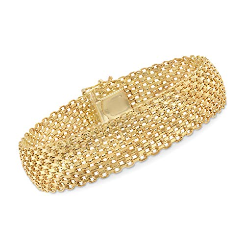 Ross-Simons Italian 14kt Yellow Gold Bismark Link Bracelet ()