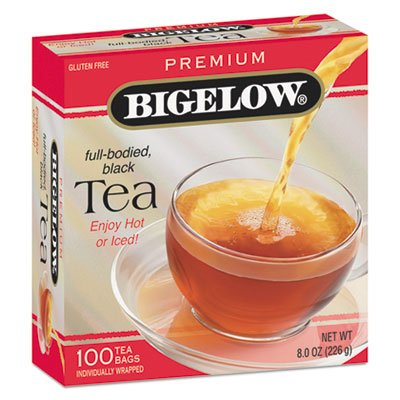 Bigelow Products - Bigelow - Single Flavor Tea, Premium Ceylon, 100 Bags/Box - Sold As 1 Box - One bag makes 8-oz. cup. - Great for home and office. (Bigelow Premium Black Tea)