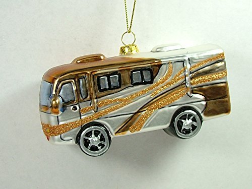 RV Travel Bus, Glass made our list of unique RV Camping Christmas Tree Ornaments