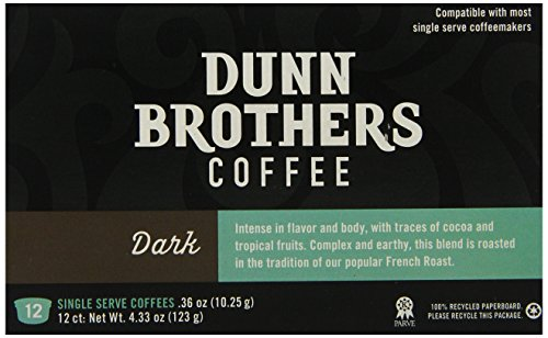 Dunn Brother's Single Serve Coffee, Dark Blend, 12 Count (Brothers Dunn)