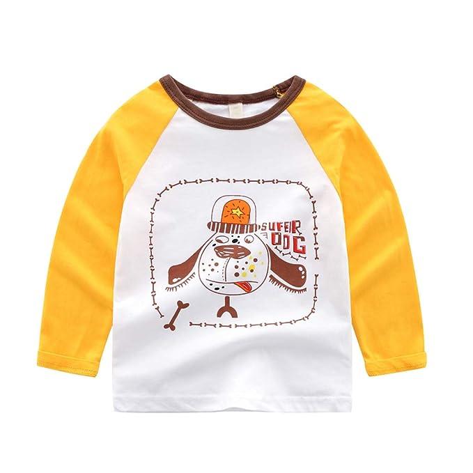 ZARLLE Niños Bebé - Ropa para niños Camiseta de Manga Larga Camiseta Sweatshirt Sudaderas De Manga Larga con Estampado Animal de Dibujos Animados para ...