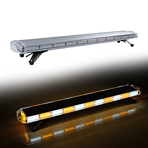 (LED Rooftop Car Tow Truck Emergency Warning Beacon Plow Safety Strobe Light Bar Kit (51