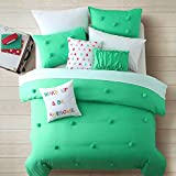 Cassiel Home Anna 2pcs Comforter set Mint Teen Girls Bedding (Twin, Mint)
