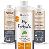 patented Oxyfresh Mouthwash Patented Pro Formula with Oxygene and Zinc - Dentist Recommended – Fresh Mint - No Artificial Colors, Alcohol-Free – 16 Oz. - Packaging my vary