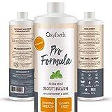 Oxyfresh Mouthwash Patented Zinc Pro Formula with Oxygene – No Artificial Colors, Alcohol-Free – 16 Oz.