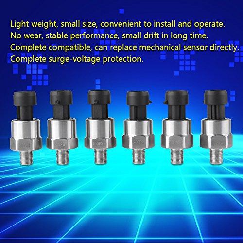 "1//8/"" NPT 5V Stainless Steel Pressure Transducer Sender Sensor Oil Fuel Air Gas"