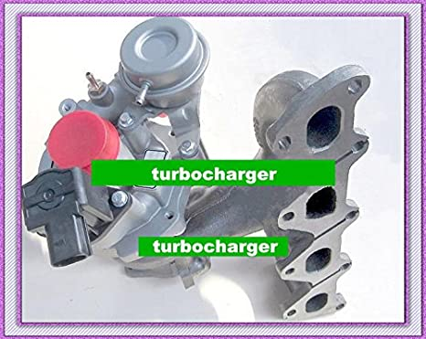 GOWE turbo para Turbo K03 53039700150 53039700099 53039700142 Turbocompresor para Volkswagen Golf, Polo, Tiguan, Touran BLg BMY 1.4L TSI + Tetera actuador: ...