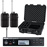 Shure P3T-J13 Wireless Transmitter and 2x P3R-J13 Wireless Bodypack Receivers with Waterproof Case