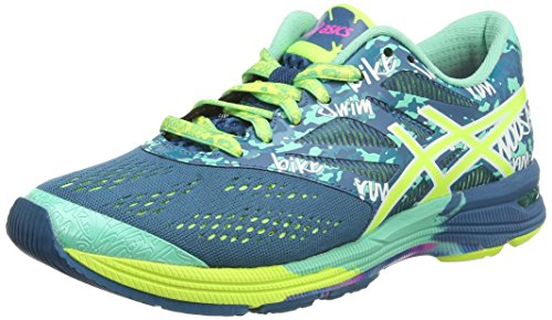 Asics Gel-noosa Tri 10, Damen Laufschuhe, Blau (mosaic Blue/flash Yellow/pink 5307), 40.5 EU