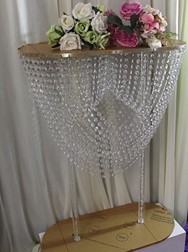 2018 new year Acrylic crystal wedding flower vase aisle road lead cake holder party table centerpieces decor wedding venue props 2 sets/ lot by DHL Fast shipping (clear, 60x30x80cm) by JIALI