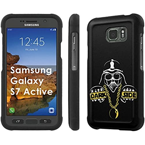 AT&T [Galaxy S7 Active][5.2 Screen] Phone Case [SlickCandy] [Black] Hard Protector Snap Designer Shell Case - [Dark Side] for Samsung Galaxy [S7 Active] Sales