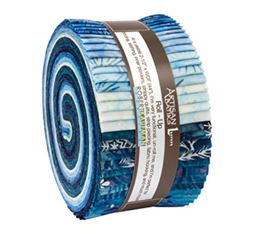 Lunn Studios Artisan Batiks Northwoods 7 Winter Roll Up 40 2.5-inch Strips Robert Kaufman RU-728-40