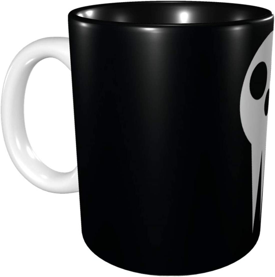 BenjaminNash Soul Eater Anime Coffee Mug Big Tea Cup Personality Ceramic Coffee Mug Hot Travel Mug Hot Chocolate Mugs Restaurant Coffee Mug 11 Oz Black