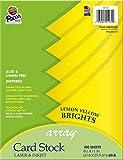 Pacon Card Stock, Lemon Yellow, 8-1/2'' x 11'', 100 Sheets