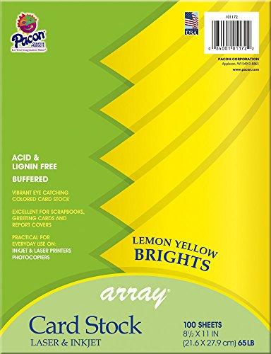Pacon Card Stock, Lemon Yellow,  8-1/2