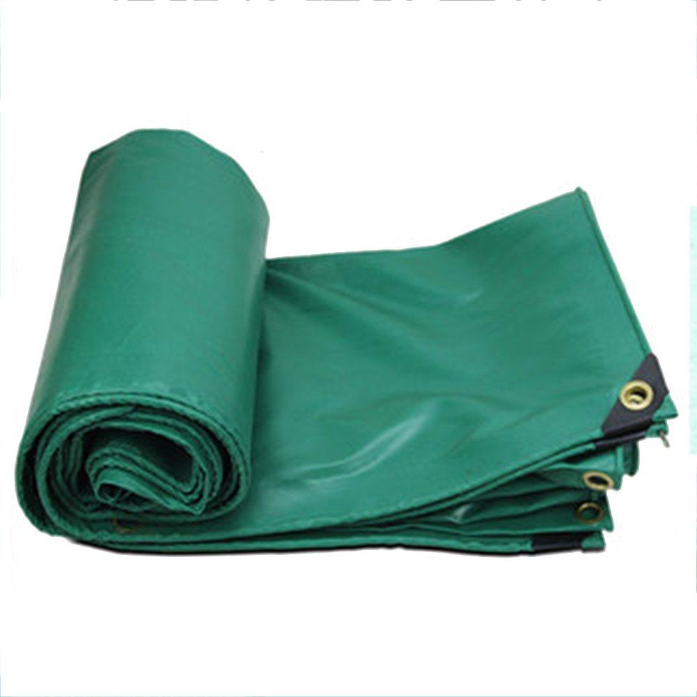 CHAOXIANG ターポリン 防雨布 シェッドクロス 折りたたみ可能 厚い 両面 防水 キャンバス PVC、 450G/㎡、 13サイズ (色 : Green, サイズ さいず : 3x3m) B07FVZYHWW 3x3m|Green Green 3x3m