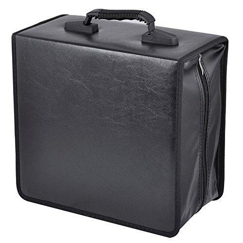 Koskin Cd / Dvd Case - go2buy Disc CD DVD Bluray Storage Holder Solution Binder Sleeves Carrying Case((400 Capacity))