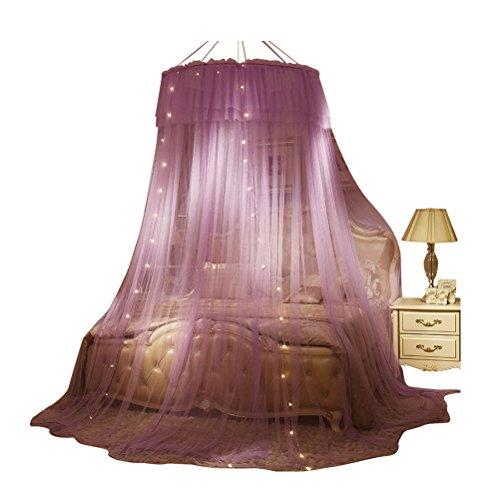 Mosquito net ZI LING Shop Dome Ceiling Nets DREI Türen, um die Größe der hängenden Stil europäischen Palace Princess Wind große Verschlüsselung zu erhöhen