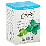 Choice Organic Teas Gourmet Green Tea, Mint Green, 16 Count For Sale