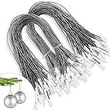 kockuu 200pcs Silver Christmas Ornaments Hanger